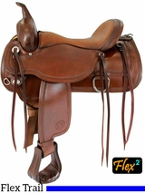 "** SALE ** 15"" to 18"" Circle Y Topeka Flex2 Trail Saddle 1651 w/Free pad"