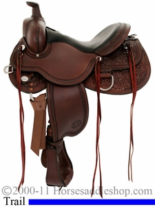 "** SALE **15"" to 18"" Circle Y Kenny Harlow High Rock Trail Saddle 5622"