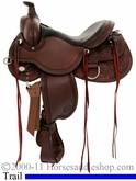 "** SALE **15"" to 18"" Circle Y Kenny Harlow High Rock Trail Saddle 5622 *free gift*"
