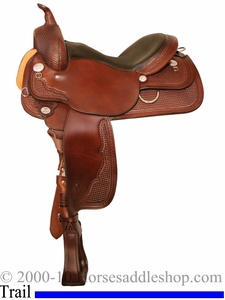 "** SALE **15"" to 18"" Circle Y Nightshade All Around Trail Saddle 2608 *free gift*"