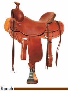 """15"""" to 18"""" Circle Y Outfitter Ranch Saddle 1125"""