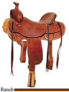 "15"" to 18"" Circle Y Outfitter Ranch Saddle 1125 w/Free Pad"