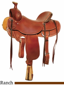 "** SALE ** 15"" to 18"" Circle Y Outfitter Ranch Saddle 1125 w/Free Pad"