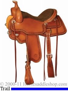 """15"""" to 18"""" Circle Y Powder River Competitive Trail Saddle 2600 w/Free Pad"""
