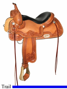 "15"" to 18"" Circle Y Caldwell All-Around Trail Saddle 2607 *free gift*"