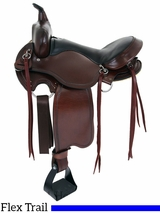 "15"" to 17"" American Saddlery Custom Light Flex Tree Trail Saddle 814"
