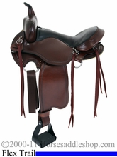 "15"" 16"" 17"" American Saddlery Custom Light Flex Tree Trail Saddle am814"