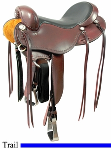 """15"""" to 17"""" Cashel No Horn Trail Saddle, Reg or Wide Tree"""