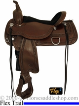 "** SALE **15"" to 18"" Circle Y Laramie Flex2 Trail Saddle 1662 *free pad or cash discount*"