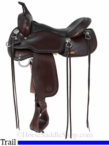 """15"""" to 17"""" Circle Y Cold Springs Trail Saddle 2616 w/Free Pad"""