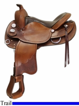 """** SALE **15"""" to 17"""" Crates Lightweight Round Skirt Trail Saddle 2171"""