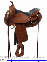 """15"""" to 17"""" Crates Lightweight Round Skirt Trail Saddle 2171"""