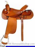 "15"" 16"" 17""  Custom Dakota Saddlery Pleasure Saddles Reg QH or FQHB  dk 350 gb"