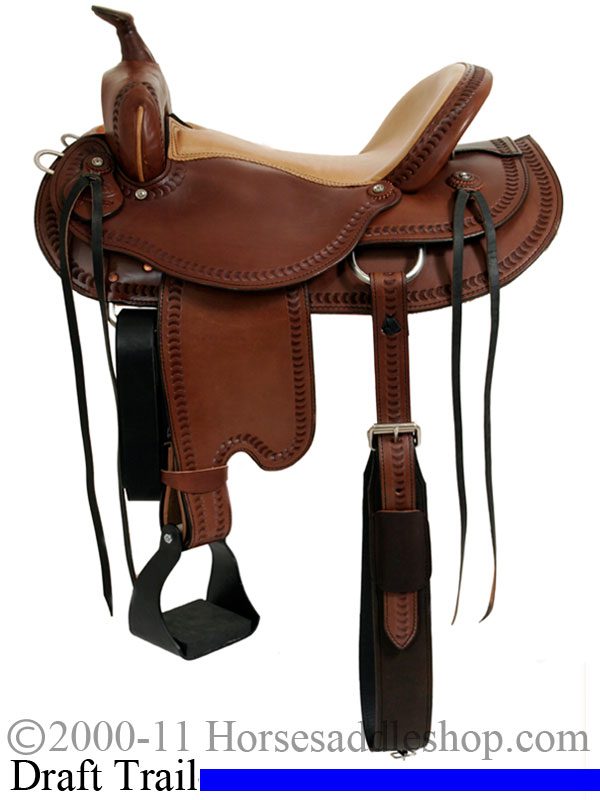15inch 16inch 17inch Dakota Draft Horse Trail Saddle