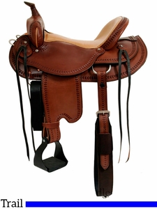 "** SALE ** 15"" to 17"" Dakota Draft Horse Trail Saddle 214"