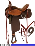 "15"" to 17"" Fabtron Lady Flex Trail Saddle 7152p 7154p w/Tack"