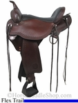 "** SALE **15"" to 18"" Circle Y Flagstaff Flex2 Trail Saddle 1571 *free pad or cash discount*"