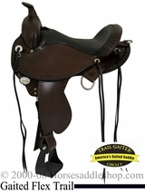"14"" to 17"" Circle Y Alabama Flex2 Trail Gaiter Saddle 1581"