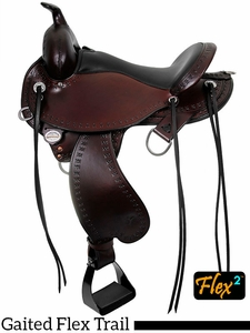 "** SALE ** 14"" to 17"" Circle Y Alabama Flex2 Trail Gaiter Saddle 1581 w/Free Pad"