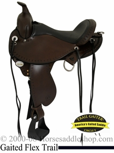"** SALE **15"" to 17"" Circle Y Alabama Flex2 Trail Gaiter Saddle 1581 *free gift*"