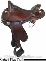 "15"" to 17"" Circle Y Virginia Flex2 Endurance Trail Gaiter Saddle 1588"