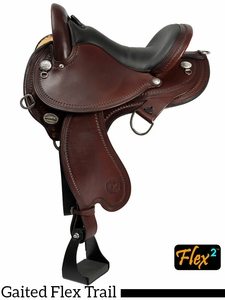 "** SALE ** 15"" to 17"" Circle Y Virginia Flex2 Endurance Trail Gaiter Saddle 1588 w/Free Pad"