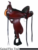 "** SALE **15"" to 17"" Circle Y Kentucky Flex2 Trail Gaiter Saddle 1582 *free gift*"