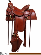 """15"""" 16"""" 17"""" Old West Ranch Trail Saddle South Bend Saddle Co 2202"""