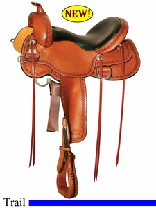 "15"" 16"" 17"" Reinsman Butterfly Skirt Trail Saddle 4137"