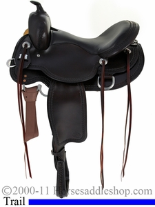 "15"" to 17"" Reinsman Round Skirt Trail Saddle 4135"