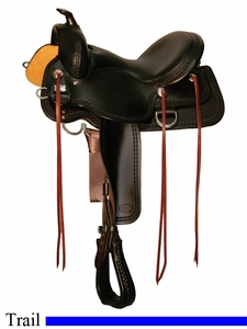 "DISCONTINUED 15"" to 17"" Reinsman Square Skirt Trail Saddle 4133"