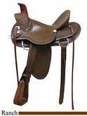 "** SALE **15"" 16"" 17"" Rocking R A Fork Ranch Saddle 739"