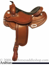"15"" 16"" 17"" Rocking R Arabian Trail Saddle 1915"