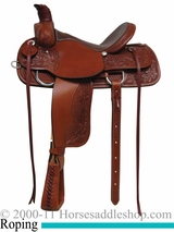 "15"" 16"" 17"" Rocking R Association Roping Saddle 1640"