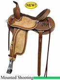 "15"" 16"" 17"" Rocking R Baddog 2 Mounted Shooting Saddle 3214BADDOG2"