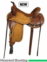 "15"" to 17"" Rocking R Baddog III Mounted Shooting Saddle 3214BADDOG3"