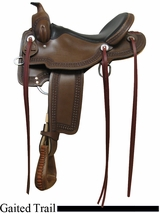 "15"" 16"" 17"" Rocking R Gaited Trail Saddle 1217"