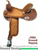 "15"" 16"" 17"" Rocking R Mounted Shooting Saddle 3214"