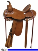"** SALE **15"" 16"" 17"" Rocking R Mule Saddle 1685"