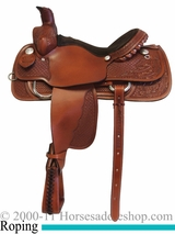 "15"" 16"" 17"" Rocking R Roping Saddle 2530"