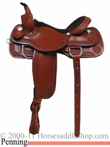 "15"" 16"" 17"" Rocking R Team Penning Saddle 990"