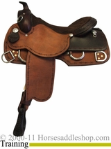 "15"" 16"" 17"" Rocking R Training Saddle 1380"