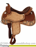 "** SALE **15"" 16"" 17"" Rocking R Training Saddle 2387"