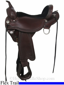 "15"" to 18"" Circle Y Sheridan Flex2 Trail Saddle 1572"