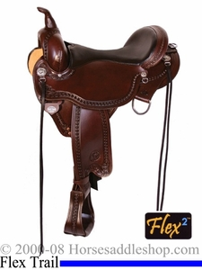"** SALE **15"" to 17"" Circle Y Sheridan Flex2 Trail Saddle 1572 *free gift*"