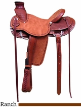 "15"" 16"" 17"" South Bend Saddle Co A Fork Ranch Saddle 1785"