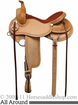 """15"""" 16"""" 17"""" South Bend Saddle Co All Around Work & Trail Saddle 1124"""