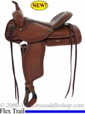 "** SALE **15"" 16"" Alamo Flex Tree Greek Border Tooled Western Trail Saddle Wide Tree 1060"
