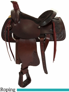 "** SALE ** 15"" 16"" American Saddlery American All Around Roping Saddle 750"