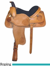 "15"" 16"" American Saddlery Big Bend Roper Saddle 770"
